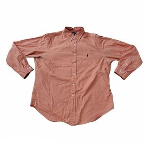 Ralph Lauren Classic Fit Button Down Orange and Wh
